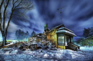 Burned House - HDR Workshop by imonline