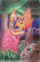 Daily Sketch 31-Flame Princess by TheAlienBanana