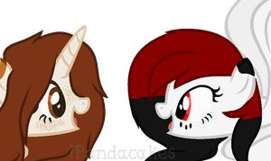 Gift: Carma and Blood Moon by iPandacakes