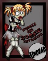 Molly the zombie Girl by ladylionink