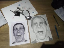 Christian Bale WIP - American Psycho by HarryMichael