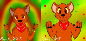 3 month difference by Pokeythewarrior