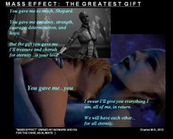 Mass Effect:  The Greatest Gift by CharlesWS