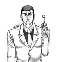 Golgo 13 and his Gun by MDTartist83