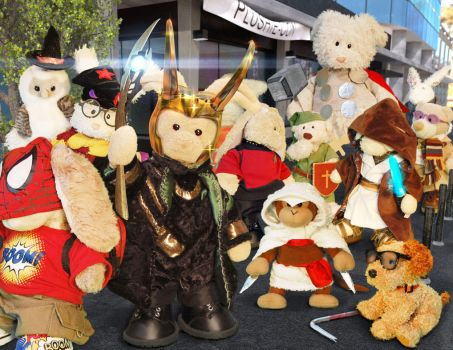 Comic-con! for PLUSHIES!! Plushie-con!! by zackaryrabbit