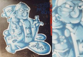 duotone caracter graffiti nr.2 by Leconte