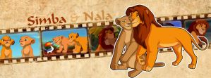 Simba and Nala (Timeline Facebook) by Howie62