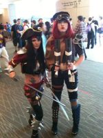 Bildgewater Katarina and Roadwarrior Missfortune by vandersnark