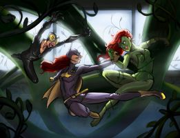 Fighting in the vines by javman
