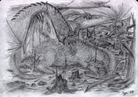 Dragon's fight by Maggot350