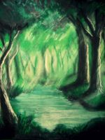 Forest River by Felt-heart