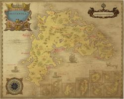 Ancient Ultima online Britannia map by NoxIllunis971