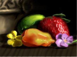 Fruit Still life by FluffyPocket