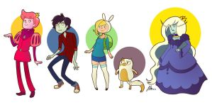 Adventure Time with Fionna and Cake by Quackamos