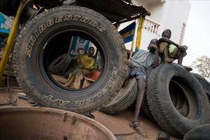 Tires never die in Africa by Ouylle