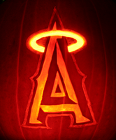 Angels Baseball Pumpkin by johwee