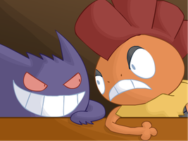 FPA: Gengar and Scrafty by Calicard