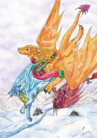 Christmas flight by ChibiMieze