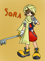 KH - Sora in his desert outfit by PokemonBWishesCilan
