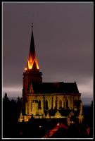 Cathedral Bariloche by Night by tgrq