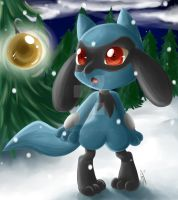 Riolu's First Christmas by KujoSutefanii