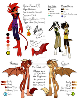 .:Doodles:. OMG. MUCH CHARACTERS. WOW. by SilverfanNumberONE