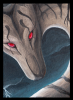 ACEO Pulciosus: Approaching Storm by LabradoriteWolf