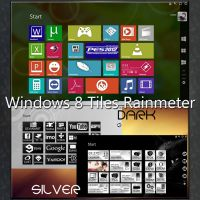 Windows 8 Tiles Rainmeter : Colors, Dark, Silver by ZakycooL