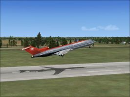 Northwest 727 out of KCI by Andreasantoni