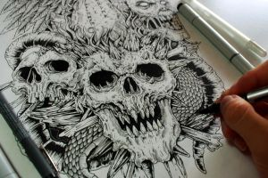 And even more skull tattoo commissions by EG-TheFreak