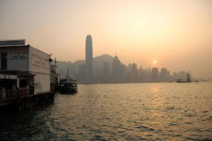 Sunset on the Star Ferry by DenkMit