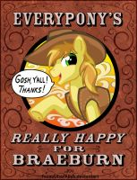 Everypony's Really Happy For Braeburn by TexasUberAlles