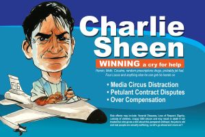 Charlie Sheen by HamsterRage