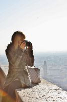 taking photos by windily