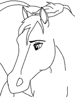 Horse line art by CookieCannibleSofiel