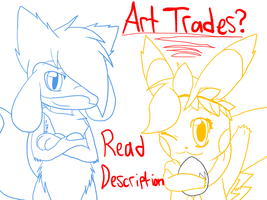 Art Trades?-OPEN! by Alora-Of-Hearts
