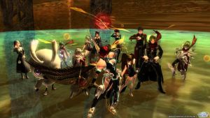 PSO2 12 Player Coop Team Pic =) by DarkSoniti