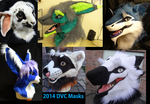 2014-15 Fursuit Masks by Monoyasha