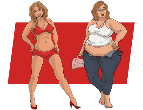Commission: Stacy before and after, 'Vixen' by kastemel