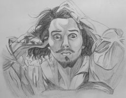 My drawing of Gustav Courbet by EHilsdonPhotography