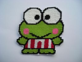 Keroppi Cross stitch by natyna82