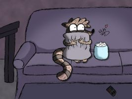 Scared Rigby by 123mine123