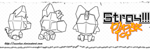 Stray Paper Toy - Template by EsseDue