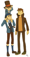 Layton Luke and Clive by Poefish