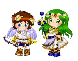 Pit and Palutena by purplemagechan