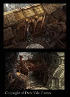 Environment Sketches copyright Dark Vale Games by egilthompson