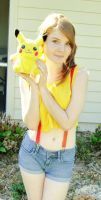Misty and Pikachu by xazuxnyanxEmi