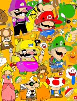Mario Characters and Items by Marios-Tri4ce