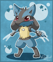 Chibi Lucario - I'm Wolverine by Isi-Daddy