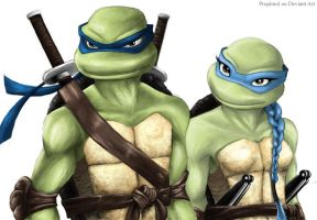 TMNT Leonardo and Venus 04 by propimol